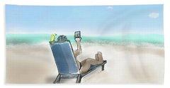 Yellow Bird Beach Selfie Hand Towel