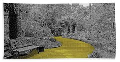 Yellow Brick Gardens Walkway Bath Towel