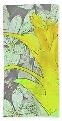 Yellow Bromeliad Flower Hand Towel by Tony Grider