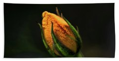 Yellow Bud Hand Towel
