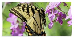 Yellow Butterfly Hand Towel