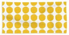 Yellow Circles- Art By Linda Woods Bath Towel