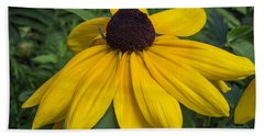 Yellow Coneflower Hand Towel
