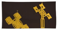 Yellow Crosses Bath Towel