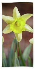 Yellow Daffodil Hand Towel
