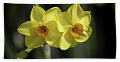 Yellow Daffodils 2 Bath Towel