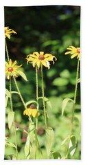 Yellow Daisies In The Sun Bath Towel
