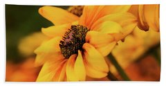 Hand Towel featuring the photograph Yellow Dark by Mary Jo Allen