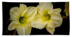 Yellow Day Lilies Bath Towel