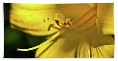 Yellow Daylily Bath Towel