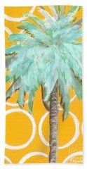Yellow Delilah Palm Bath Towel