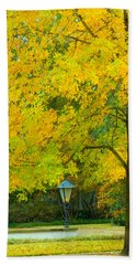Yellow Drapes Bath Towel