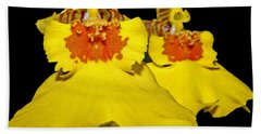 Bath Towel featuring the photograph Yellow Dresses by Judy Vincent