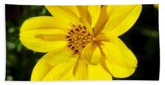 Yellow Flower Hand Towel