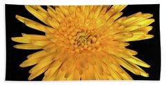 Yellow Flower Macro Bath Towel