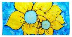 Yellow Flowers   Hand Towel