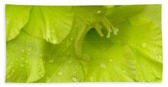Yellow Gladiola Refreshed Hand Towel