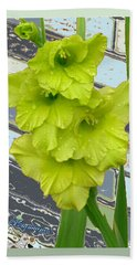 Yellow Gladiolas Hand Towel