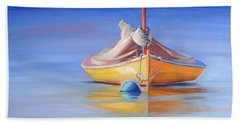 Yellow Hull Sailboat Iv Bath Towel