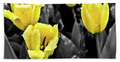 Yellow In Black And White Hand Towel by Steven Parker