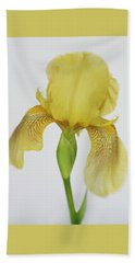 Hand Towel featuring the photograph Yellow Iris A Symbol Of Passion by David and Carol Kelly