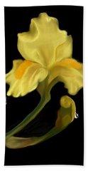 Yellow Iris Hand Towel