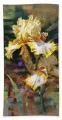 Yellow Iris II Bath Towel