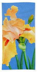 Yellow Iris Hand Towel by Jimmie Bartlett