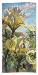 Yellow Iris Hand Towel
