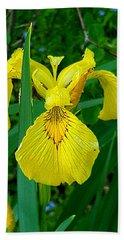 Yellow Iris Bath Towel