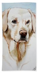 Yellow Lab Hand Towel