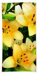 Yellow Lilies 3 Bath Towel