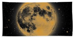 Yellow Moon Bath Towel