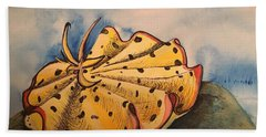 Yellow Nudibranch Bath Towel