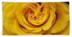 Yellow Ochre Rose Hand Towel by Jim Harris