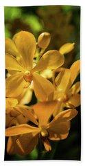 Yellow Orchid Hand Towel by Jocelyn Kahawai