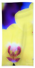 Yellow Orchid Bath Towel