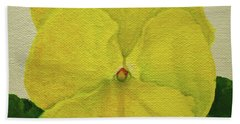 Yellow Pansy Bath Towel by Wendy Shoults