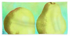 Yellow Pears Hand Towel