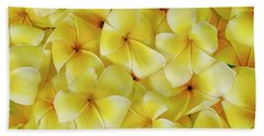 Yellow Plumerias Bath Towel