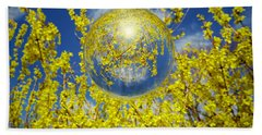 Bath Towel featuring the photograph Yellow by Robert Geary