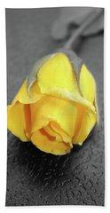 Yellow Rose Hand Towel