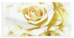 Hand Towel featuring the photograph yellow Rose by Athala Carole Bruckner