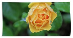 Yellow Rose Details Hand Towel