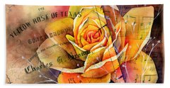 Yellow Rose Of Texas Hand Towel