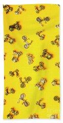 Yellow Summer Transport Bath Towel