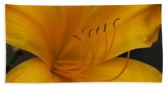 Yellow Tiger Lilly Bath Towel