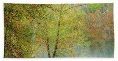 Yellow Trees Bath Towel by Iris Greenwell
