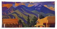 Yellow Truck Square Hand Towel