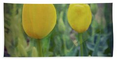 Yellow Tulip Art Bath Towel